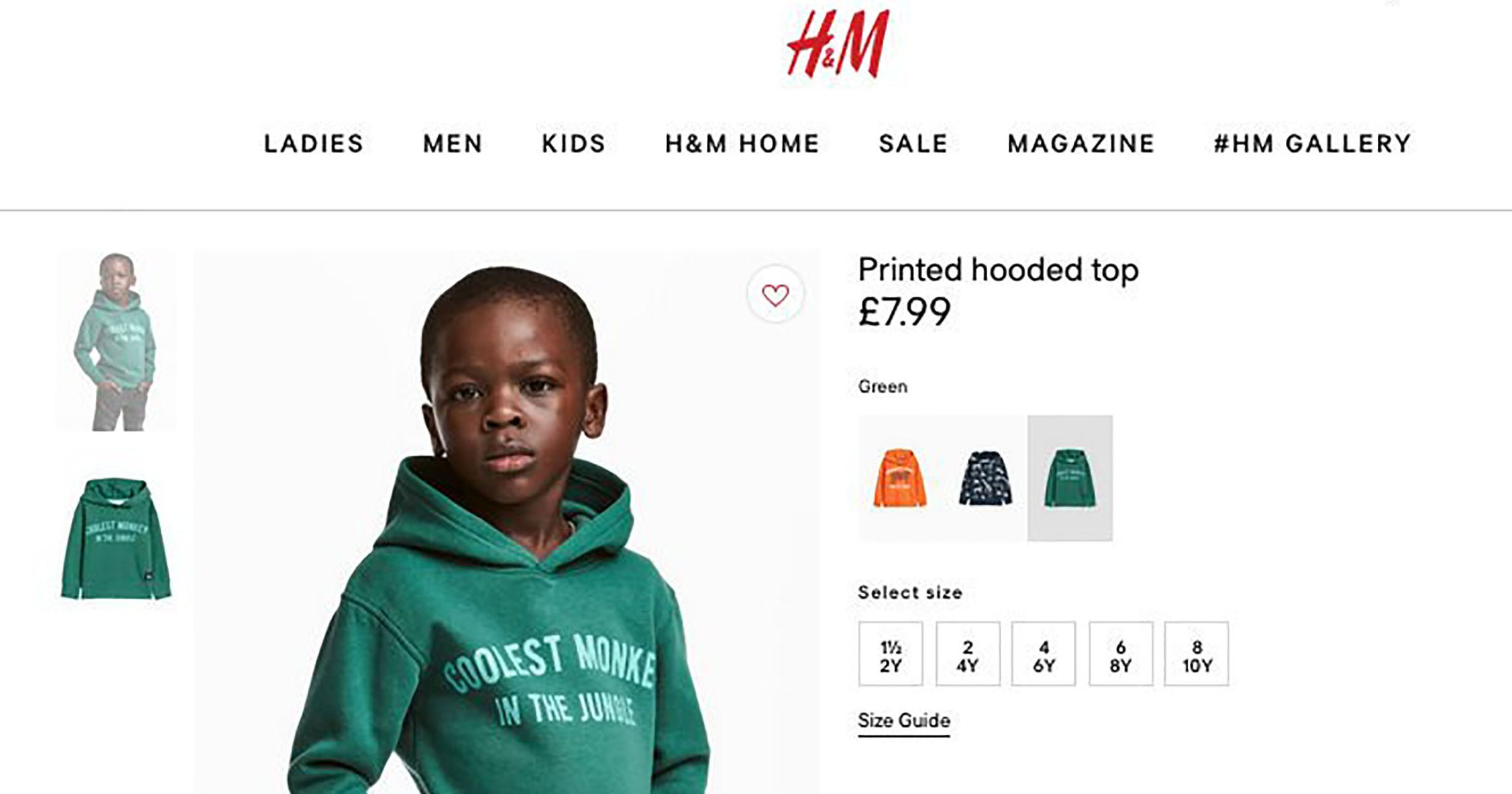 La véritable histoire derrière le sweat-shirt singe raciste de H & M